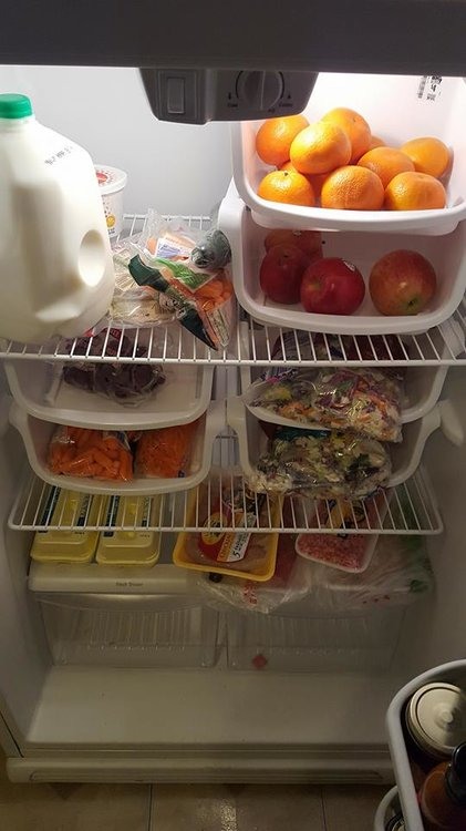 Whole30 fridge! Except for my husband's milk lol